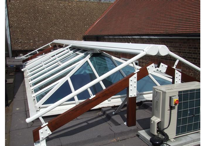 Framework for Sepele Terrace Awning for school