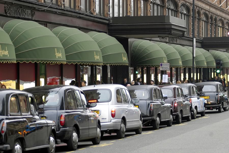 Harrods world famous awnings by Morco Awnings & Blinds