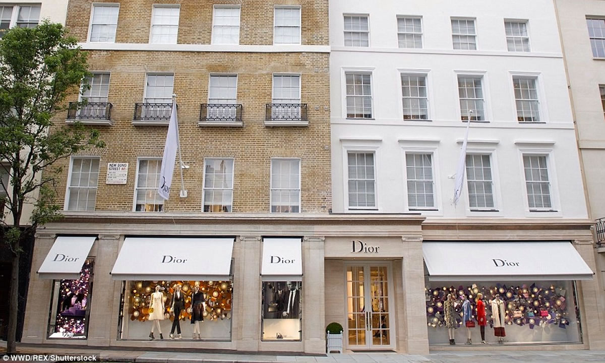 Dior shop awnings by Morco