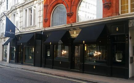 Bespoke Marlesbury® awnings for flagship store De Grisogono, New Bond Street