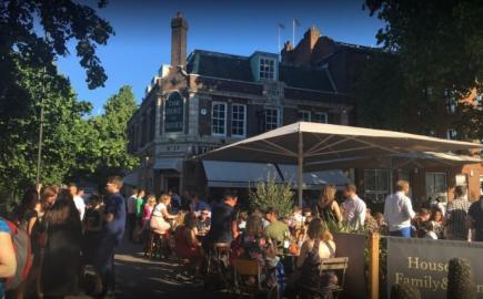As pub awnings and bar awnings experts, we used a range of Awnings, Canopies and Parasols to complete the exterior of The Duke of Sussex