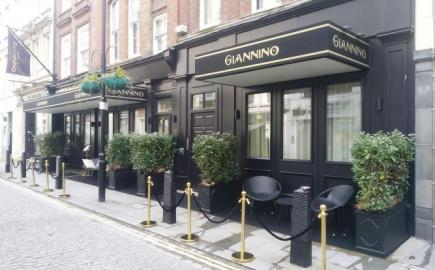 RIB Manhattan Canopies with integrated lighting for Giannino Restaurant
