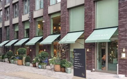 Marlesbury Awnings at brand new Linnaean Restaurant, Embassy Gardens