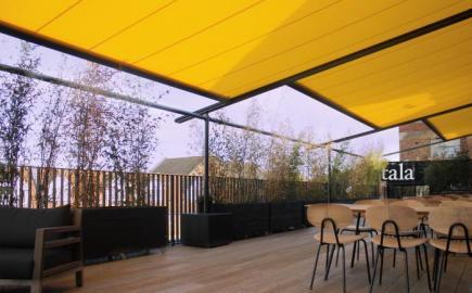 Markilux 110 Pergola awning for Tala Studios