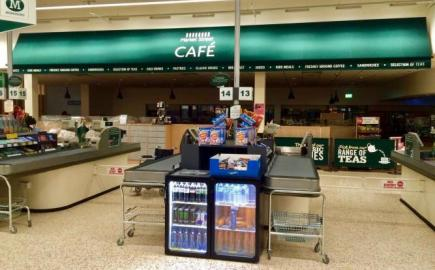 Contract commercial awnings for Morrisons