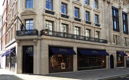 Marlesbury awnings for flagship store Ralph Lauren, Regent Street